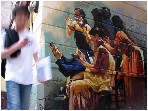 """GRAFITI """"EL NIÑO DE LAS PINTURAS"""""""